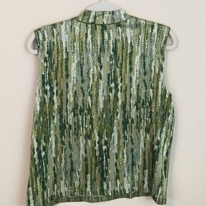 St. John Tops - Vintage ST. JOHN Sleeveless Green Top